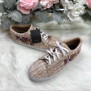 ZARA Tweed Banana Sneakers Sz 41/9.5 NWT